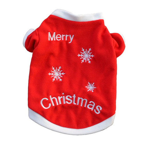 Christmas Pet Dog Coat Clothes Winter Funny Puppy Tshirts Hoodies - Dog Toys Box