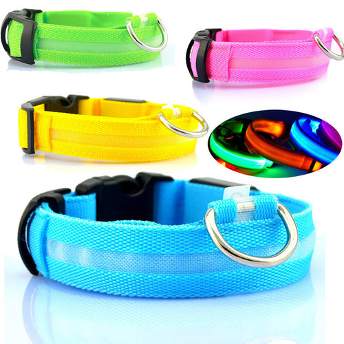 LED Dog Collar USB Charge Glowing Light Night Safety Flashing Pet Cat Collar 2.0 USB LED Rechargeable Dog Collar For Small Dogs