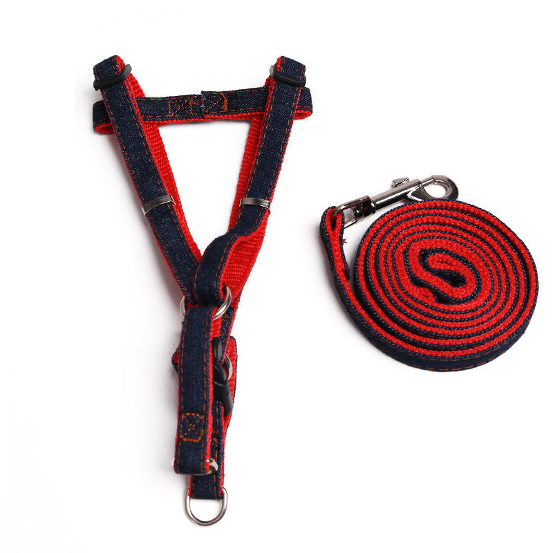 Jean pet dog leash Traction Rope Pet dog - Dog Toys Box