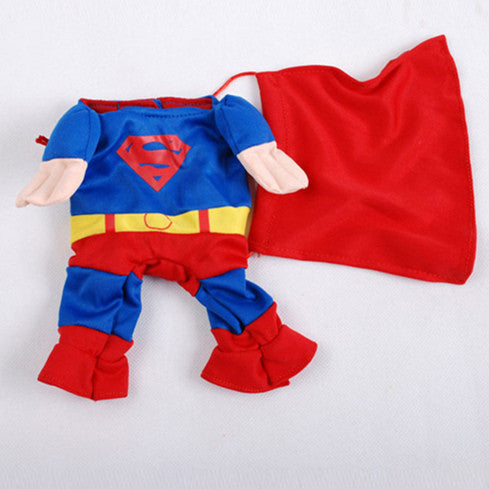 Funny Pet Superman Costume Clothes For Dog Puppy Coat - Dog Toys Box