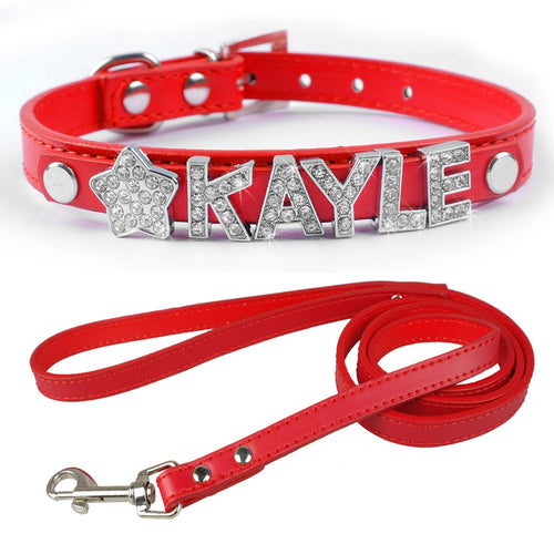 Personalized PU  Leather Dog Pet Puppy Collar - Dog Toys Box