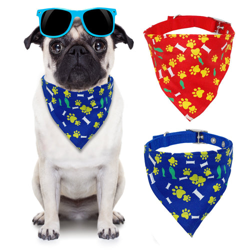 Adjustable Pet Puppy Bandana Dog Cat Collars Nylon - Dog Toys Box