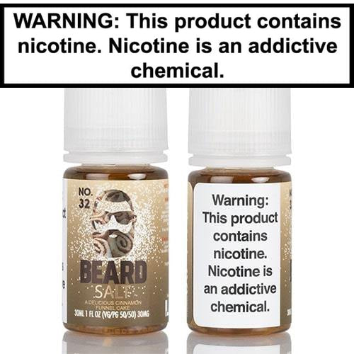 Beard Salts No. 32 Cinnamon Funnel Cake Vape Juice 30mL-1