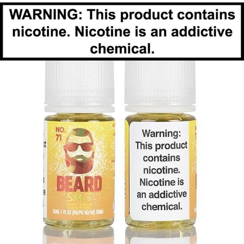 Beard Salts No. 71 Sweet & Sour Sugar Peach Vape Juice 30mL-1