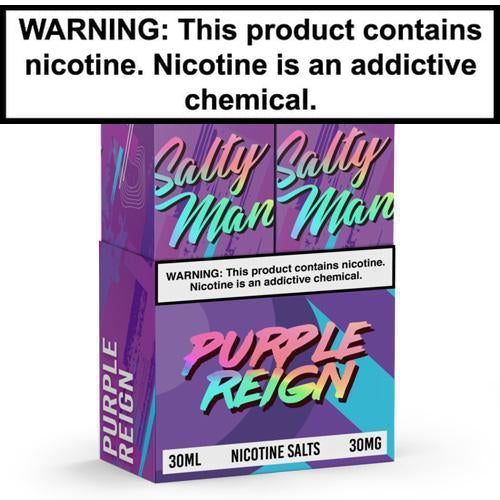 Salty Man Twin Pack Purple Reign 2x30ml Nic Salt Vape Juice