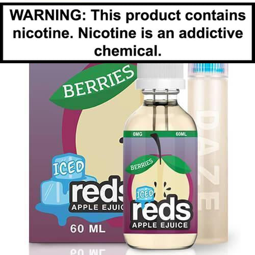 Reds Apple E-Juice Berries ICED 60ml Vape Juice 0MG