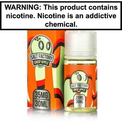 Salt Factory Crisp Apple ICE 30ml Nic Salt Vape Juice 35MG
