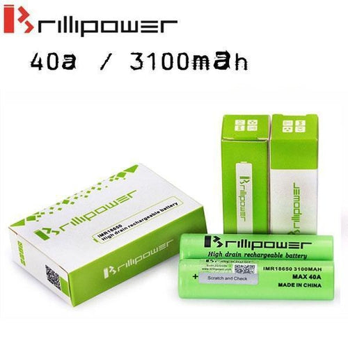 Brillipower 40a 3100mAh 18650 Batteries-1