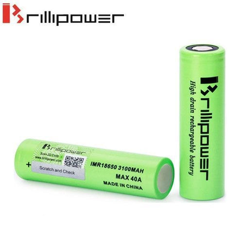 Brillipower 40a 3100mAh 18650 Batteries