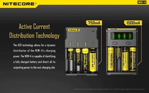 Nitecore i4 Intellicharger Battery Charger