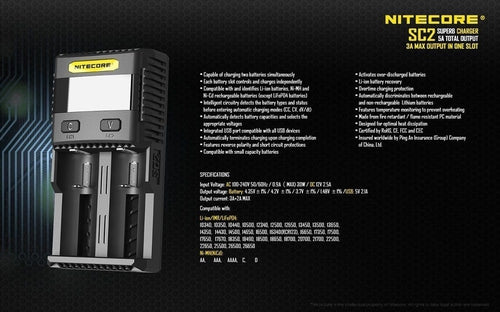 Nitecore SC2 Superb Battery Charger-6