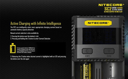 Nitecore SC2 Superb Battery Charger-7