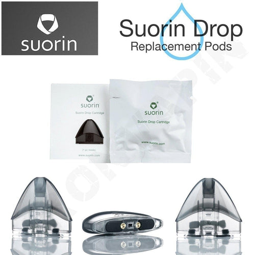 Suorin Drop 2mL Replacement Pod Cartridges 3-Pack | 2mL Suorin Drop Pods