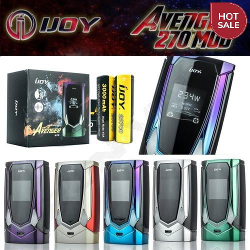IJOY Avenger 270 234W Mod with 20700 Batteries Matte Black