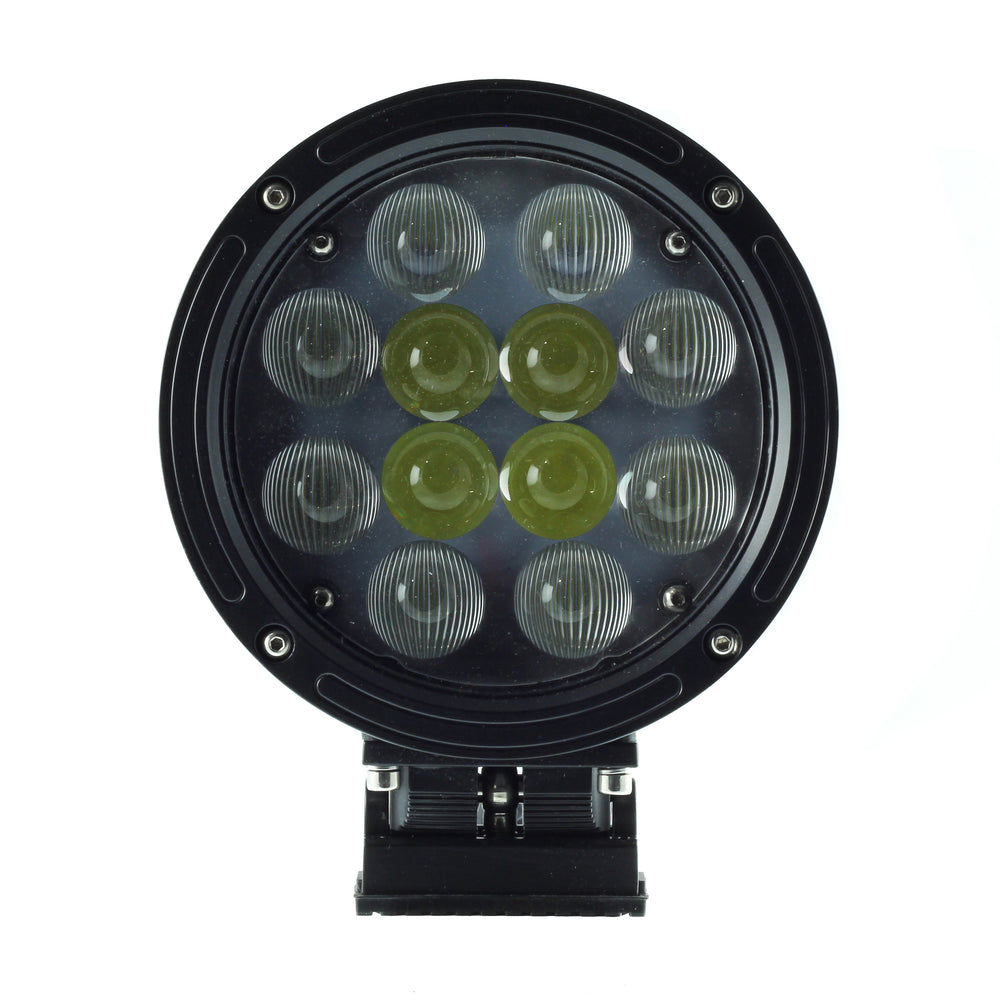 Race series round LED pod for off-road vehicles.