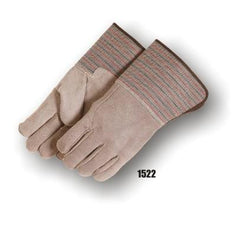 Majestic Split Cowhide Gauntlet Cuff Gloves 1522 (one dozen)