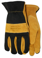Midwest 176 Suede Leather Knuckle Strap Gloves (One Dozen)