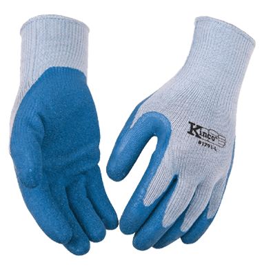 Kinco 1791 Blue Latex Palm Gripping Gloves (one dozen)