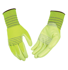 Kinco 1880 HI-VIS Vizzo Polyester Thread Nitrile Coated Gloves (One Dozen)