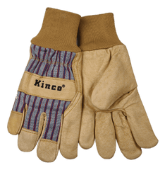 Kinco 1917KW Grain Pigskin Gloves Knit Wrist (one dozen)