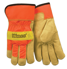Kinco 1918 Unlined Grain Pigskin Leather Palm Gloves (One Dozen)
