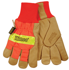 Kinco 1938KWP Waterproof Insert Grain Pigskin Gloves (one dozen)