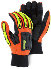 Majestic 21242HO Amorskin Palm Palm back Knuckle Finger Grade Gloves (One dozen)