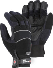Majestic 2145BKH Armor Skin Velcro M-patch Water proof Heatlok Gloves (One Dozen)