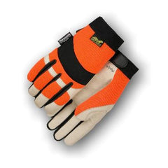 Majestic Hi-Viz Pigskin Palm Mechanics Gloves 2152THV (one dozen)
