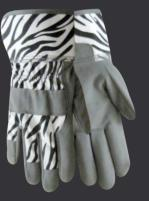 Red Steer 292Z Zoohands Zebra Kid's Gloves (One Dozen)
