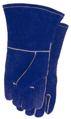Midwest 287 Blue Welder Leather Gloves (One Dozen)