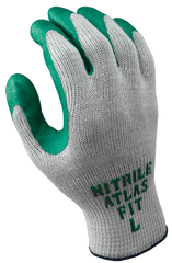 Nitrile Fit Coated Green Gloves Atlas 350 (One Dozen)