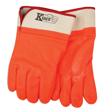 Kinco 4160 Safety Orange PVC Gloves (one dozen)