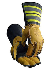 Tuff Steer Hi-Viz Welding Boarhide Work Gloves Caiman 1243 (1 Pair) L-XL