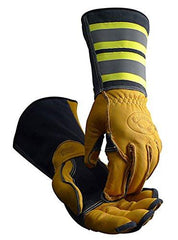 Tuff Steer Hi-Viz Welding Boarhide Work Gloves Caiman 1242 (1 Pair) M-XL