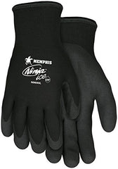 Memphis MCR Safety Ninja Ice 15 Gauge black nylon, HPT palm and fingertips, 12-Pairs