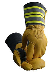 Utility Workers Mittens, Hi-Viz/Reflective, Long Cuff, Removable Wool Liner, Caiman 1244-6 X-Large