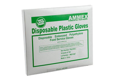 AMMEX - PGLOVE-S-CS - Poly Gloves - Disposable, Food Service, 1 mil, Clear (Case of 1000) (Mastercase of 10000) (Small, Medium, Large)