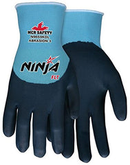 MCR Safety N9659KD Ninja 15-gauge nylon shell FLT coated palm and fingers Gloves (12 Pairs)