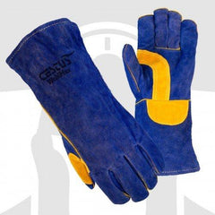 WeldMax Blue Leather Welding Gloves Cestus 7033