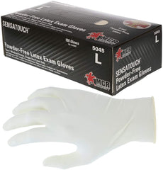MCR Safety 5045 SensaTouch Disposable Gloves 5 mil Natural Latex, Powder Free Medical Grade with Textured Grip, 1 Case
