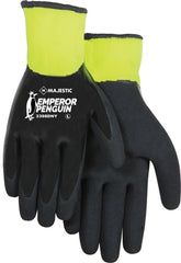 Majestic 3398DNY Emperor Penguin Full Coated Nitrile Sandy Smooth Winter Lined Gloves, Medium