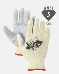 Worldwide Protective MATA30-BH Cut Resistant Gloves Leather Palm ATA Cut 5 Made in USA (1 Pair)