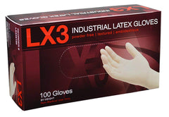 AMMEX - LX340100 - Latex Gloves - LX3 - Disposable, Powder Free, Industrial, 3 mil, XSmall, White (Case of 1000) Sizes (XS) (S) (M) (L) (XL)