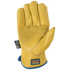 Wells Lamont 1168 Slip-On HydraHyde Leather Work Gloves, Water-Resistant 12 Pairs