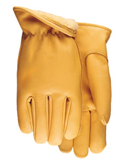 Midwest 688PL Pile Lined Saddletan Leather Gloves (One Dozen)