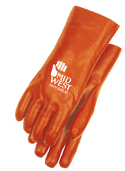 Midwest 712 Red PVC Coated Chemical Gloves (One Dozen)