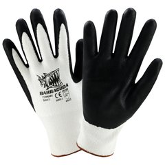 West Chester 713HGWFN Barracuda White HPPE Shell w/ Black Foam Nitrile Dip Gloves (One Dozen)