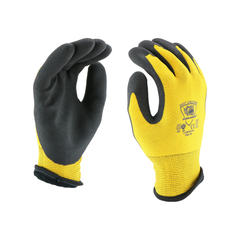 West Chester 713WHPTPD Barracuda 13G Nylon Liner with 7 Gauge Brushed Acrylic, Palm Dip and HPT Coating Gloves (One Dozen)