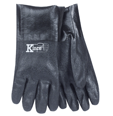 "12"" Rough PVC Gloves Kinco 7182 (one dozen)"